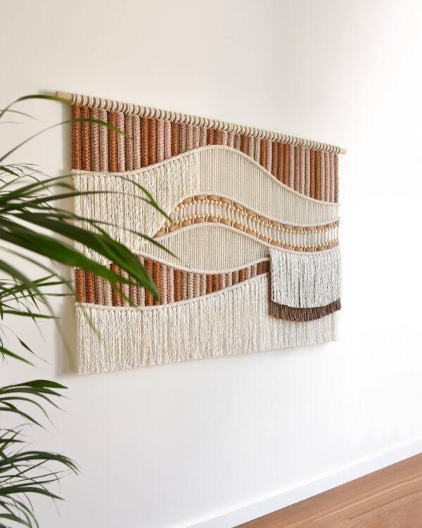 Tamar Samplonius contemporary macrame wall hanging / wandkleed