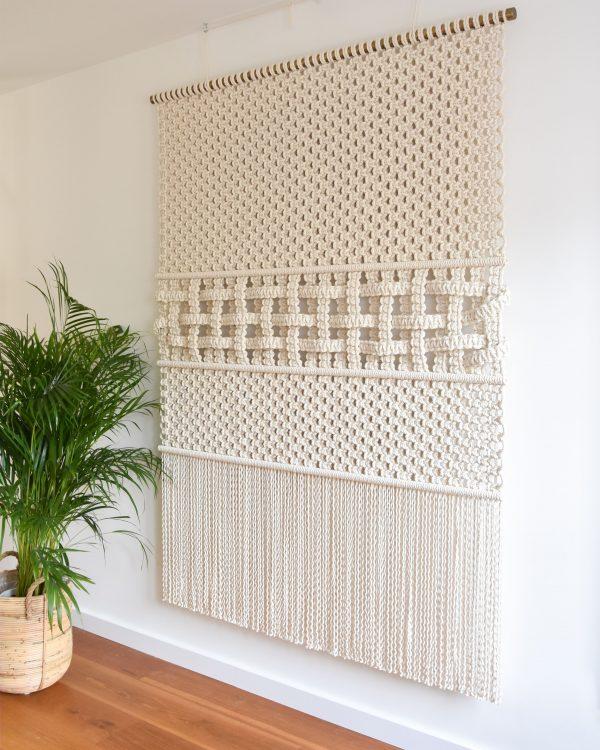 Tamar Samplonius large-scale fiber art, Woven Through Time
