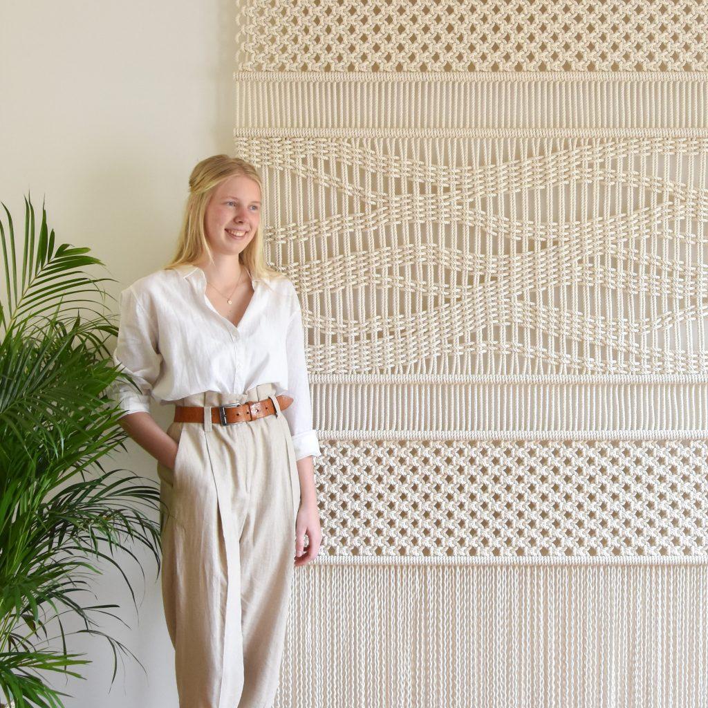 Tamar Samplonius large-scale fiber art, Path of Life