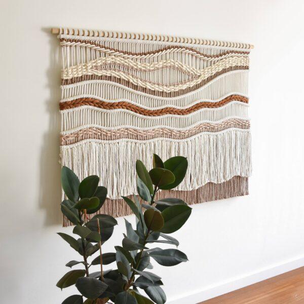 Tamar Samplonius contemporary fiber art - Caramel River